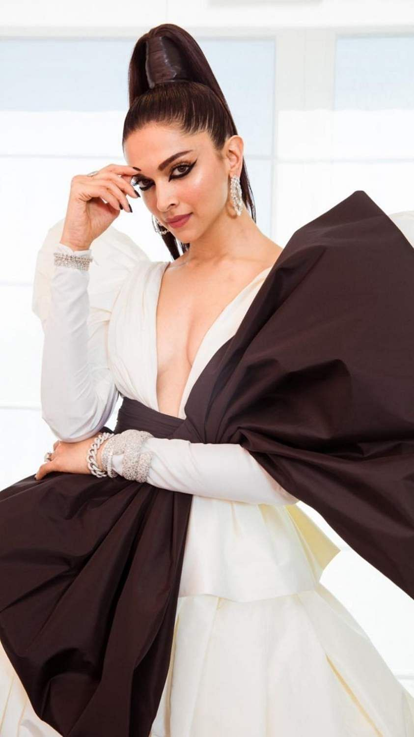 Cannes: Actress Deepika Padukone goes dramatic with big bow at the 2019 Cannes Film Festival, in Cannes, France, on May 16, 2019. (Photo: deepikapadukone/Instagram)