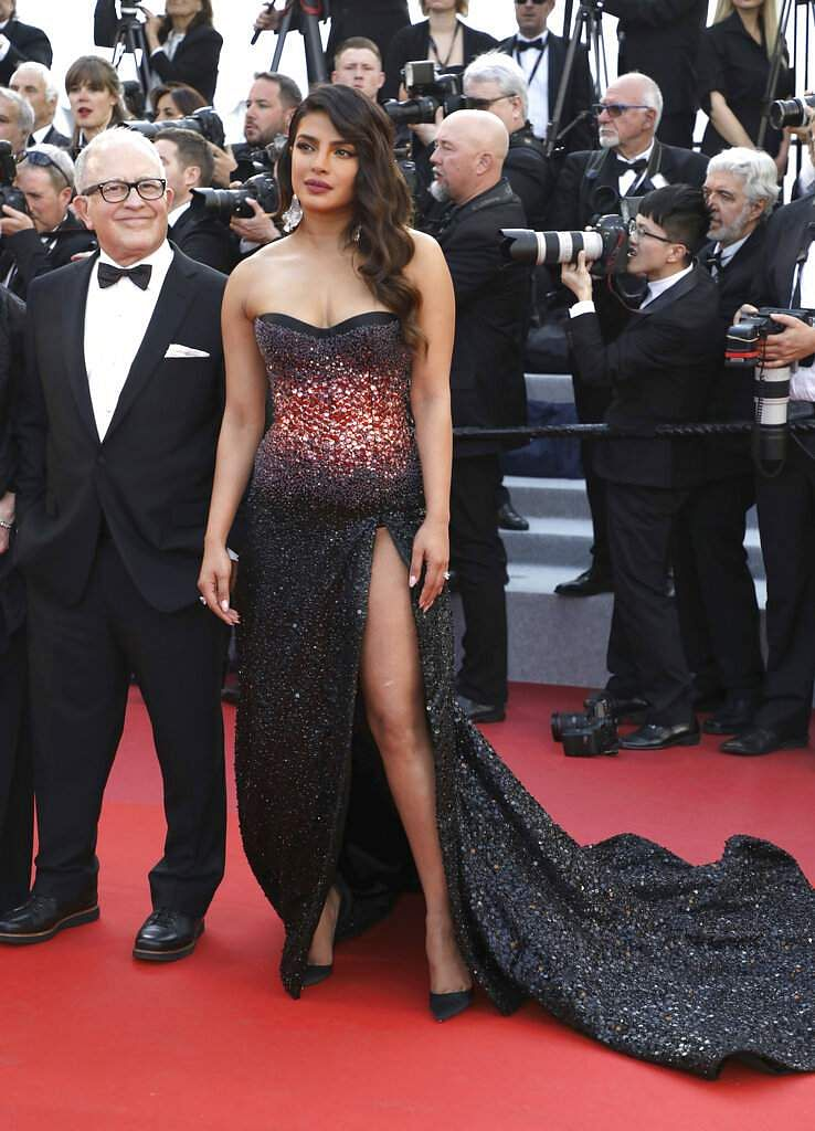 Priyanka Chopra at the premiere of the film 'Rocketman' at the 72nd international film festival, Cannes, southern France, Thursday, May 16, 2019. (Photo by Vianney Le Caer/Invision/AP)