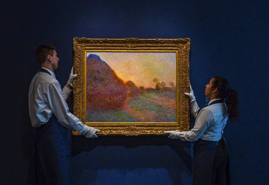 Claude Monet's painting titled 'Meules'