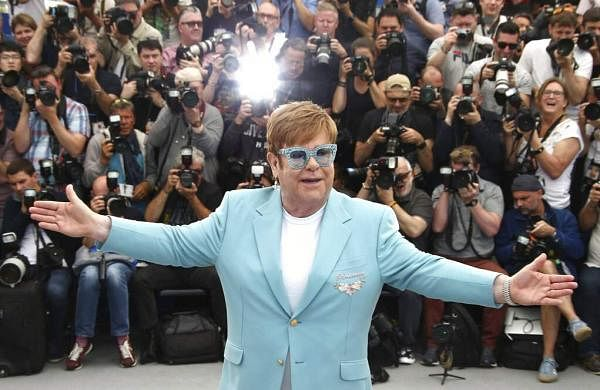 Elton John poses at the photo call for the film 'Rocketman' at the 72nd international film festival, Cannes, southern France, Thursday, May 16, 2019. (Photo by Joel C Ryan/Invision/AP)