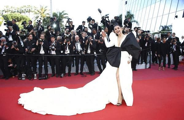 Deepika Padukone at the premiere of the film 'Rocketman' at the 72nd international film festival, Cannes, southern France, Thursday, May 16, 2019. (Photo by Joel C Ryan/Invision/AP)
