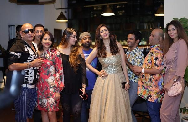 Mumbai: Actress Chahat Khanna with guests at the launch of her new clothing brand, in Mumbai, on May 16, 2019. (Photo: IANS)