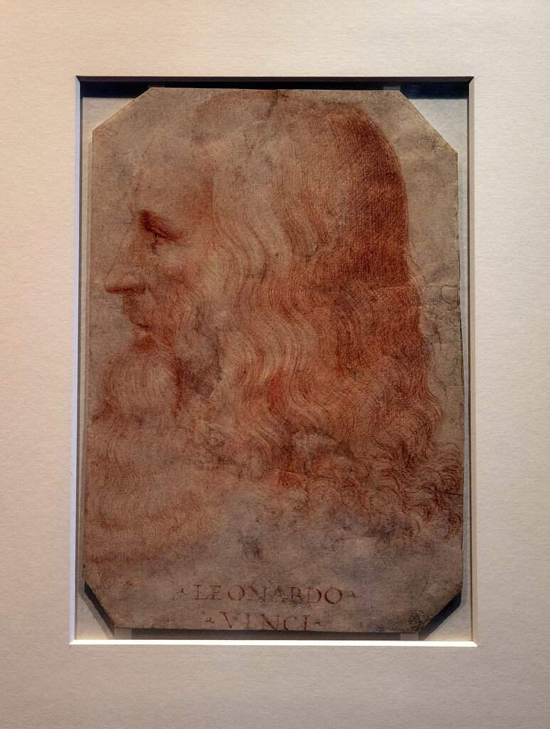 The sketch will go on public display for the first time in Leonardo da Vinci: A Life in Drawing at The Queen's Gallery, Buckingham Palace in London, from May 24 to Oct. 13. (Steve Parsons/PA via AP)