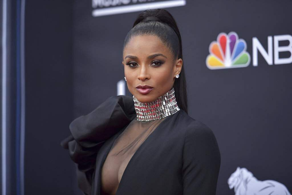 Ciara arrives at the Billboard Music Awards on Wednesday, May 1, 2019, at the MGM Grand Garden Arena in Las Vegas. (Photo by Richard Shotwell/Invision/AP)