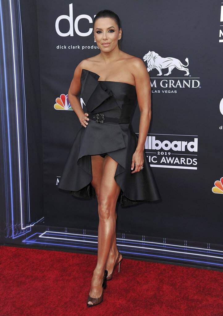 Eva Longoria arrives at the Billboard Music Awards on Wednesday, May 1, 2019, at the MGM Grand Garden Arena in Las Vegas. (Photo by Richard Shotwell/Invision/AP)