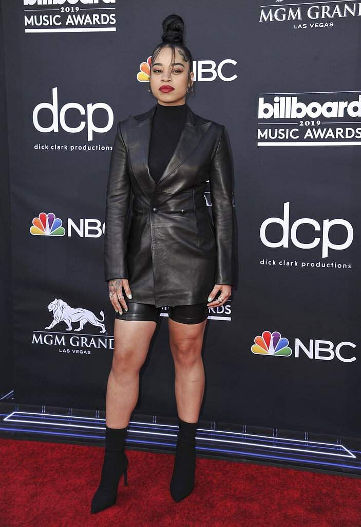 Ella Mai arrives at the Billboard Music Awards on Wednesday, May 1, 2019, at the MGM Grand Garden Arena in Las Vegas. (Photo by Richard Shotwell/Invision/AP)