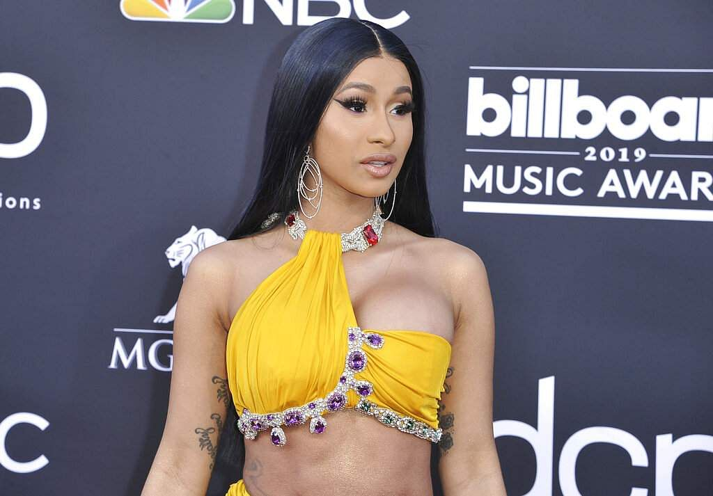 Cardi B arrives at the Billboard Music Awards on Wednesday, May 1, 2019, at the MGM Grand Garden Arena in Las Vegas. (Photo by Richard Shotwell/Invision/AP)