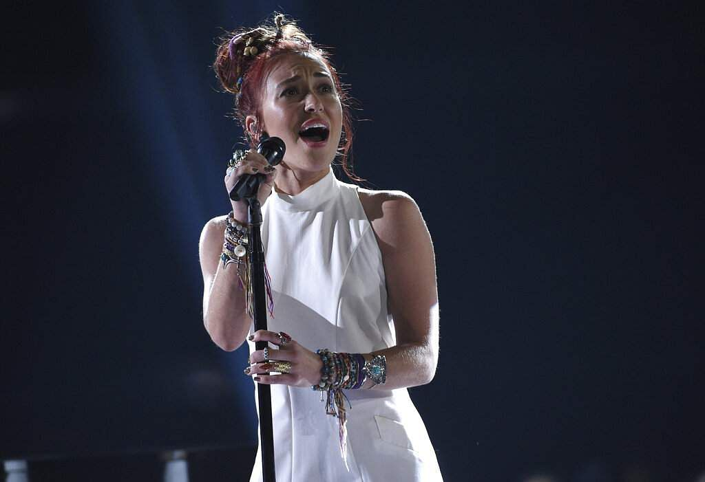 Lauren Daigle performs 'You Say' at the Billboard Music Awards on Wednesday, May 1, 2019, at the MGM Grand Garden Arena in Las Vegas. (Photo by Chris Pizzello/Invision/AP)
