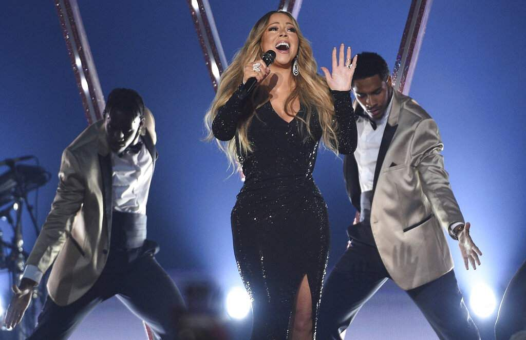 Mariah Carey performs a medley at the Billboard Music Awards on Wednesday, May 1, 2019, at the MGM Grand Garden Arena in Las Vegas. (Photo by Chris Pizzello/Invision/AP)