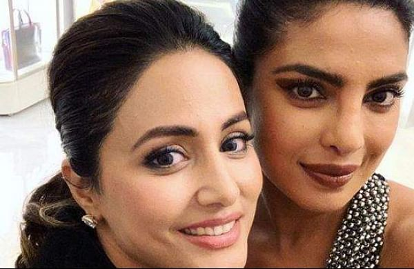 Hina Khan with Priyanka Chopra at Cannes 2019