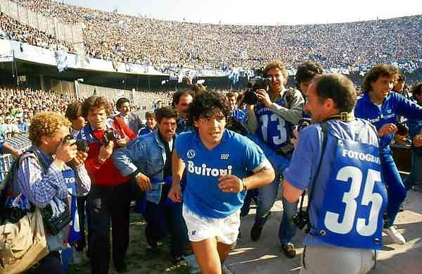 Soccer star Diego Maradona in a scene from 'Maradona.' (HBO via AP)