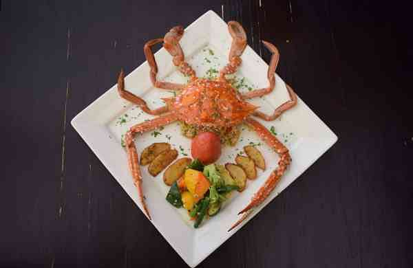 Crab at 18 Degree Rooftop Bistro, Fort Kochi