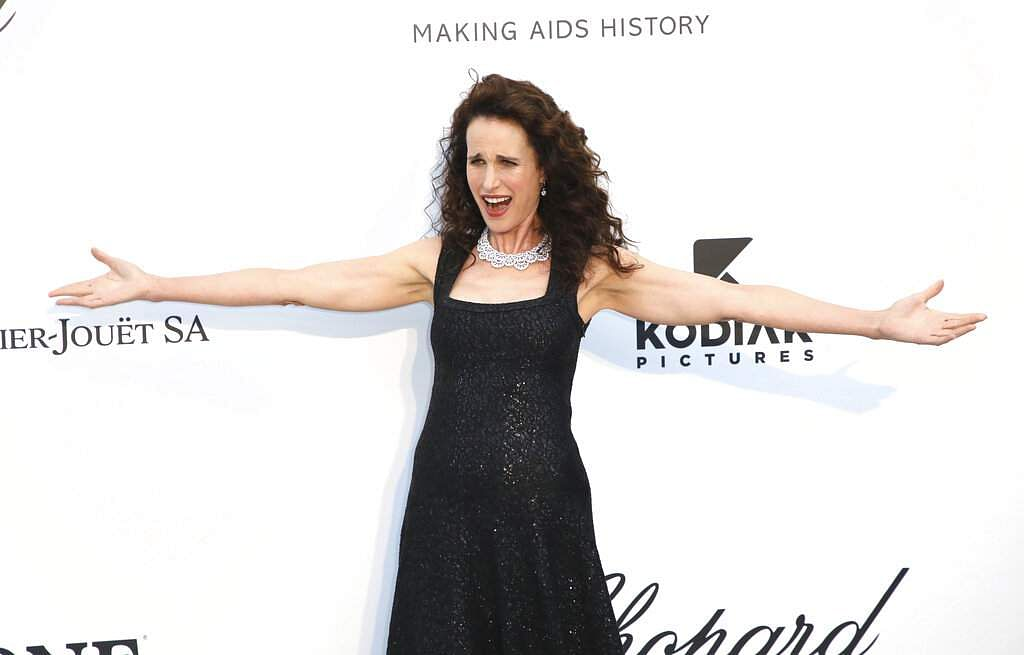 Actress Andie MacDowell poses at the amfAR, Cinema Against AIDS, benefit at Hotel du Cap-Eden-Roc, at the 72nd Cannes film festival, in Cap d'Antibes. (Photo by Vianney Le Caer/Invision/AP)