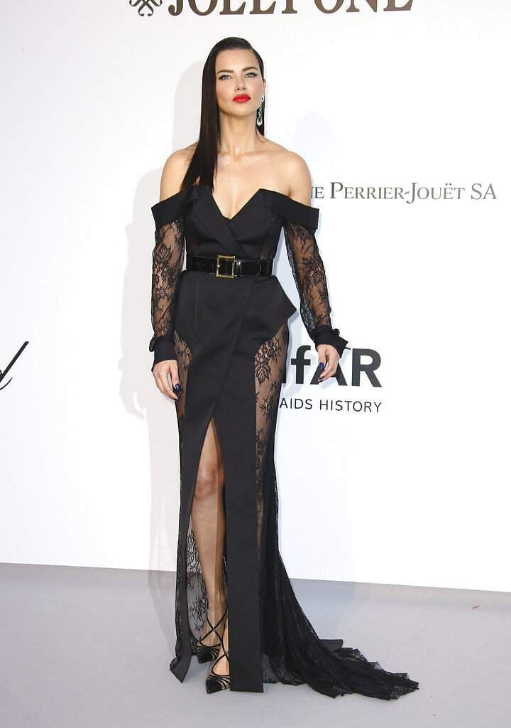 Model Adriana Lima poses at the amfAR, Cinema Against AIDS, benefit at Hotel du Cap-Eden-Roc, at the 72nd international Cannes film festival, in Cap d'Antibes. (Photo by Joel C Ryan/Invision/AP)