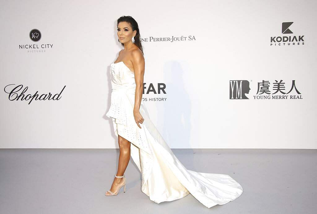 Actress Eva Longoria poses at the amfAR, Cinema Against AIDS, benefit at Hotel du Cap-Eden-Roc, at the 72nd international Cannes film festival, in Cap d'Antibes. (Photo by Joel C Ryan/Invision/AP)