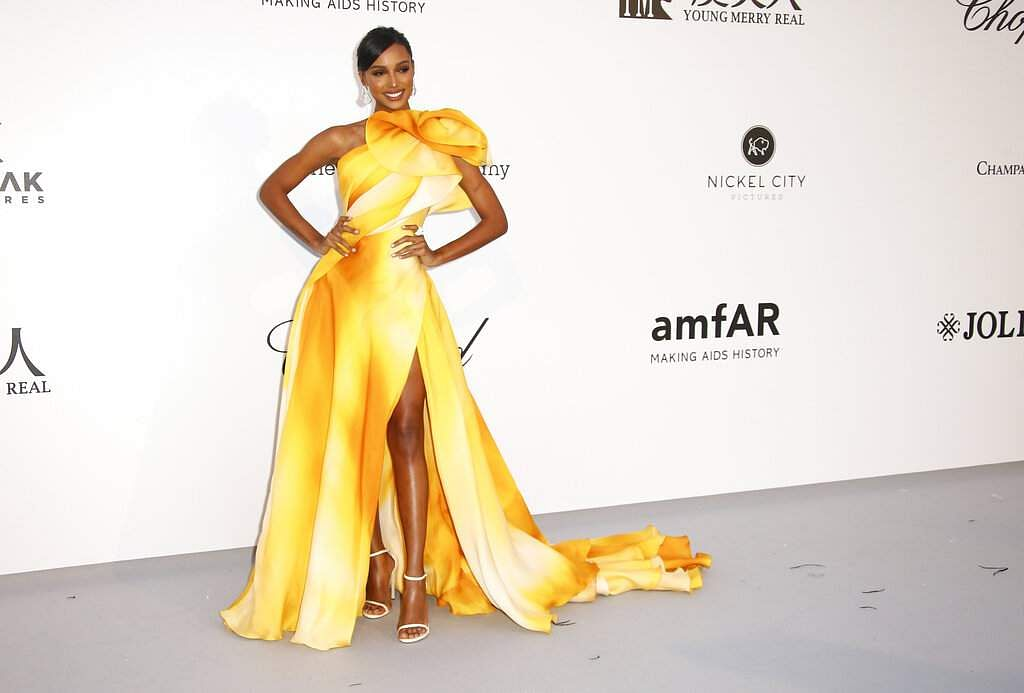 Model Jasmine Tookes poses at the amfAR, Cinema Against AIDS, benefit at Hotel du Cap-Eden-Roc, at the 72nd international Cannes film festival, in Cap d'Antibes. (Photo by Joel C Ryan/Invision/AP)