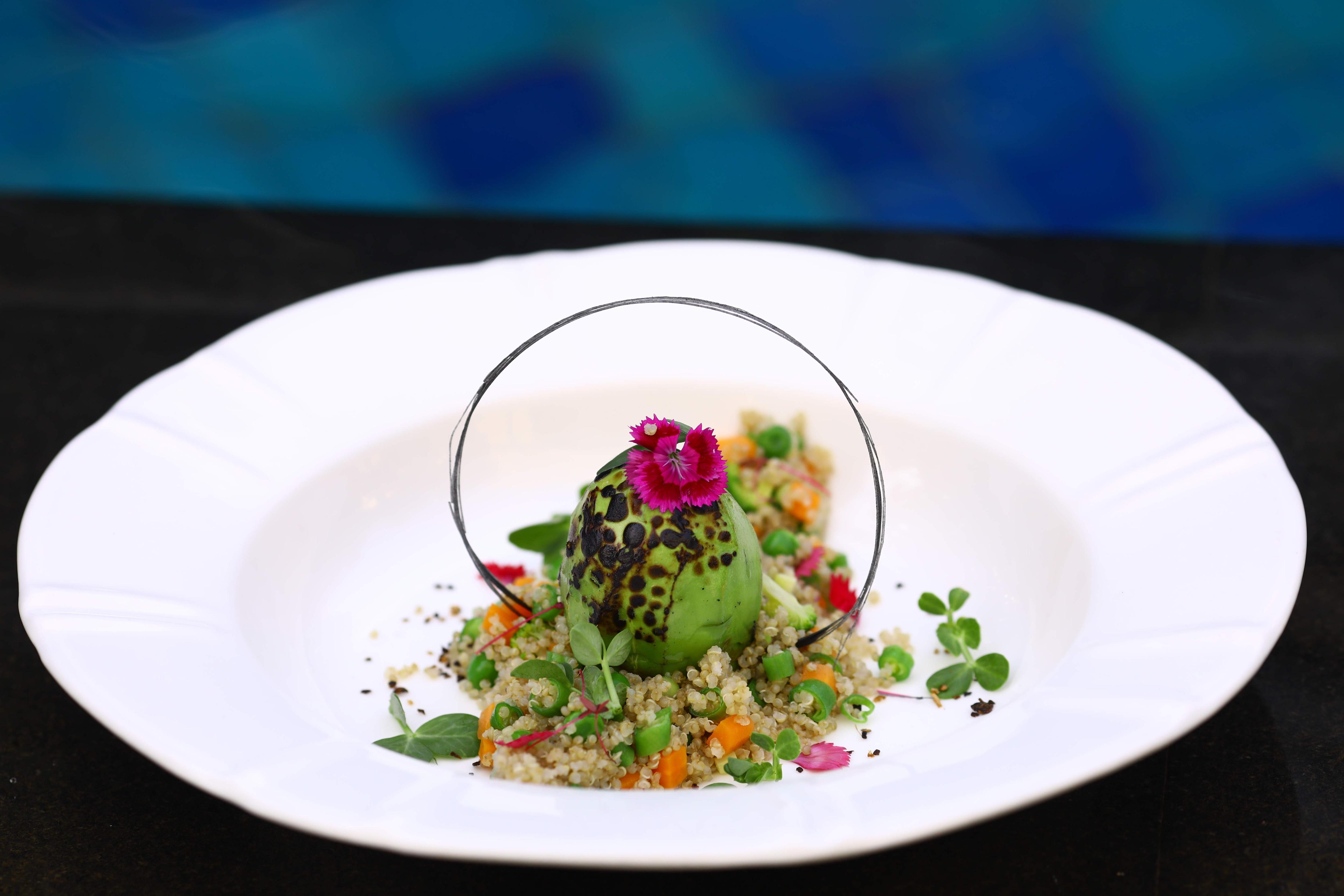 Quinoa risotto withroasted avocado recipe