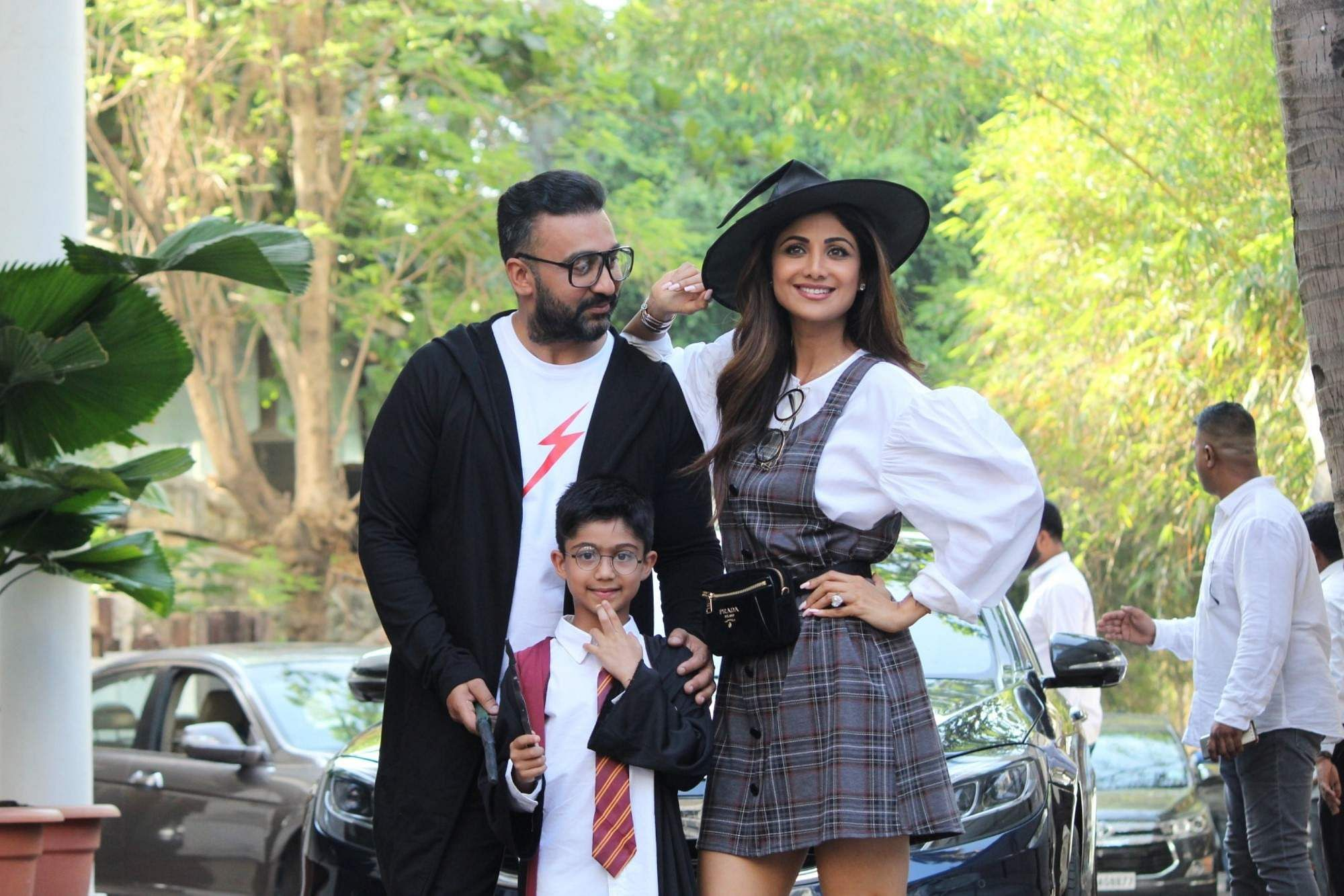 Actress Shilpa Shetty with her husband Raj Kundra celebrate their son Viaan's 7th birthday in Harry Potter style, in Mumbai, on May 25, 2019. (Photo: IANS)