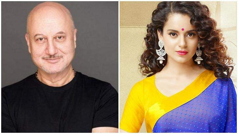 Anupam Kher shares airport pics with Kangana Ranaut, calls her his favourite