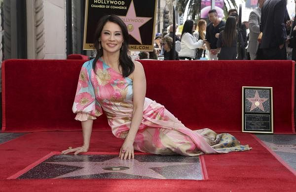 Lucy Liu poses at a ceremony honouring her with a star on the Hollywood Walk of Fame on Wednesday, May 1, 2019, in Los Angeles. (Photo by Willy Sanjuan/Invision/AP)