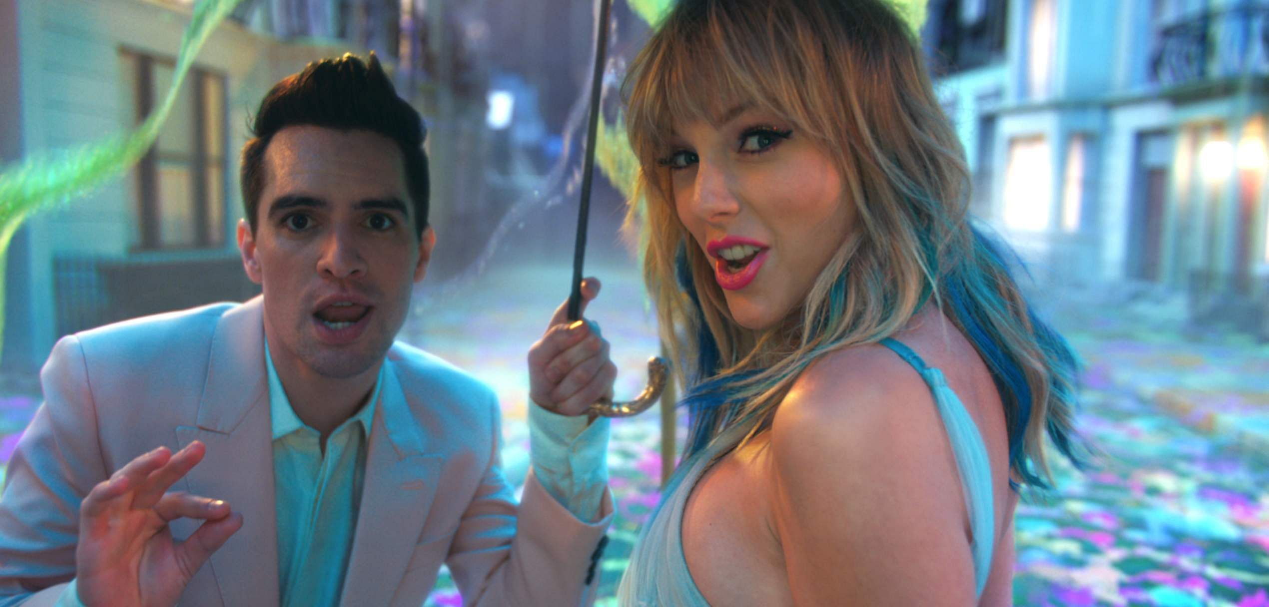 Brendon Urie and Taylor Swift in a still from ME!