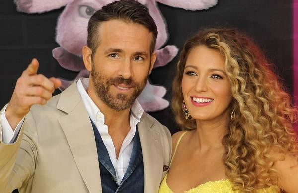 New York: Ryan Reynolds with wife Blake Lively at the premiere of the film Pokémon Detective Pikachu in New York, where the couple announced that they are expecting a third child. (Photo: IANS)