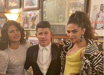 Priyanka Chopra, Nick Jonas and Deepika Padukone