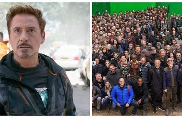 Robert Downey Jr posts throwback pictures with Avengers:Endgame cast and crew