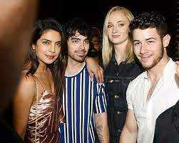 Priyanka Chopra with Nick, Joe and Sophie
