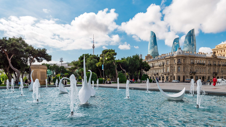 Swan fountain, Azerbaijan