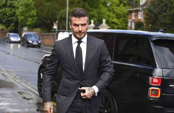 David Beckham at Bromley Magistrates Court (Victoria Jones/PA via AP)