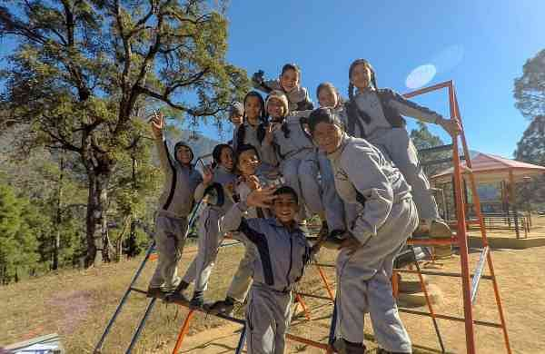 Students from Himalayan School Of Life