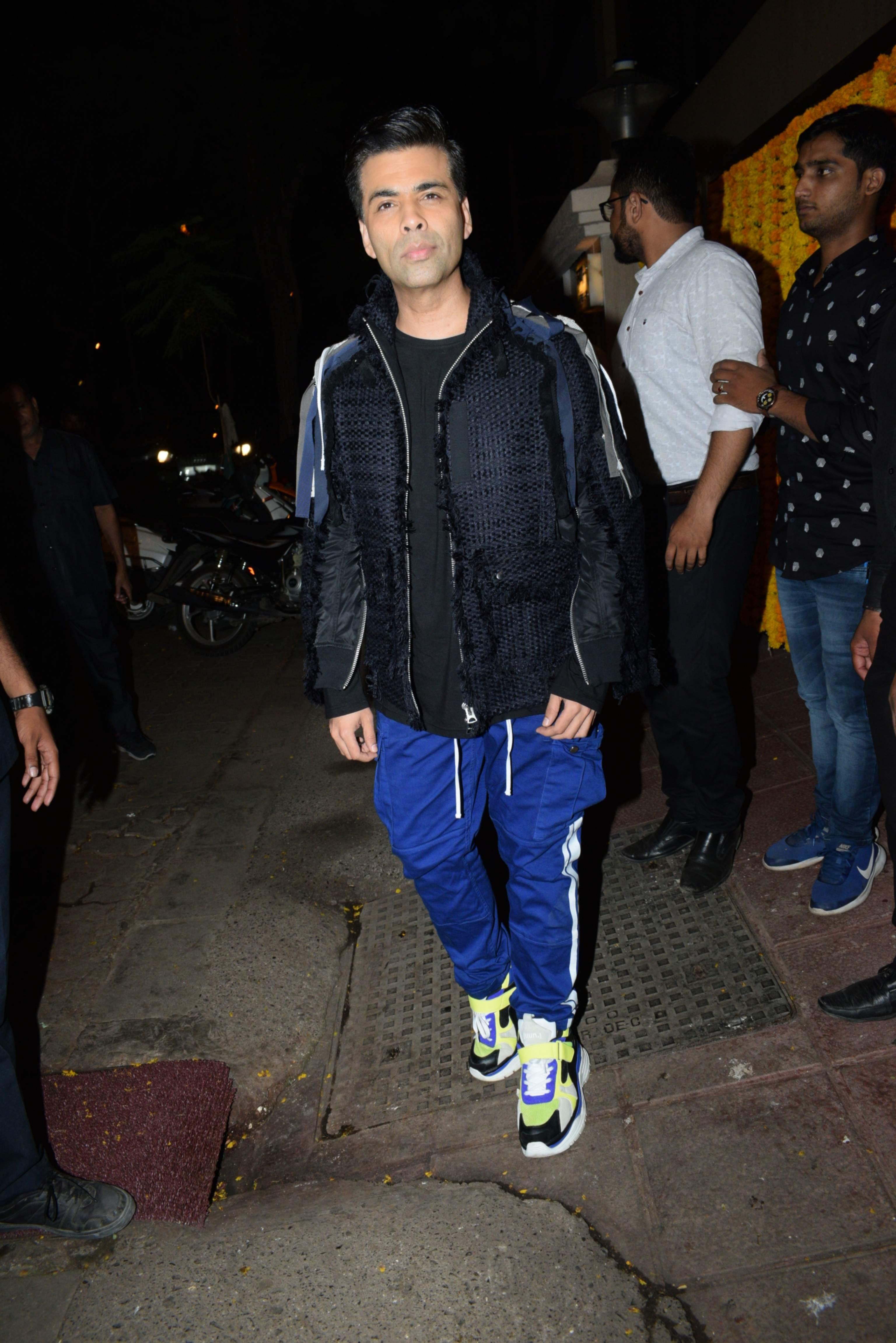 Filmmaker Karan Johar at the birthday party of producer Ekta Kapoor, in Mumbai on June 8, 2019. (Photo: IANS)