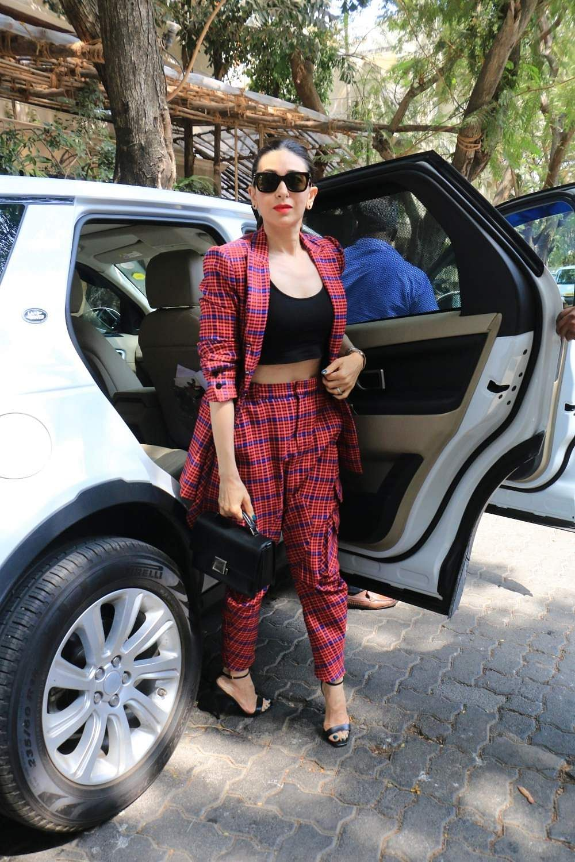 Actress Karisma Kapoor arrive to attend actress Sonam Kapoor's birthday party at Anil Kapoor's house in Mumbai on June 9, 2019. (Photo: IANS)