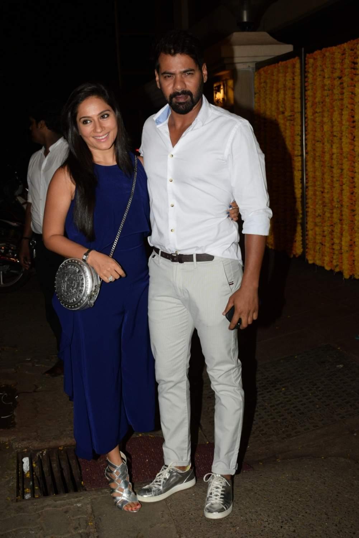 Actor Shabir Ahluwalia and his wife-actress Kanchi Kaul at the birthday party of producer Ekta Kapoor, in Mumbai on June 8, 2019. (Photo: IANS)