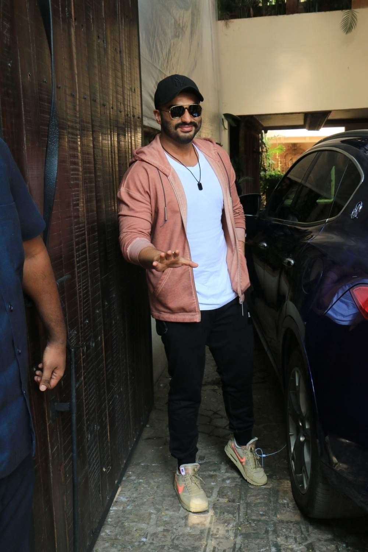 Actor Arjun Kapoor arrive to attend actress Sonam Kapoor's birthday party at Anil Kapoor's house in Mumbai on June 9, 2019. (Photo: IANS)