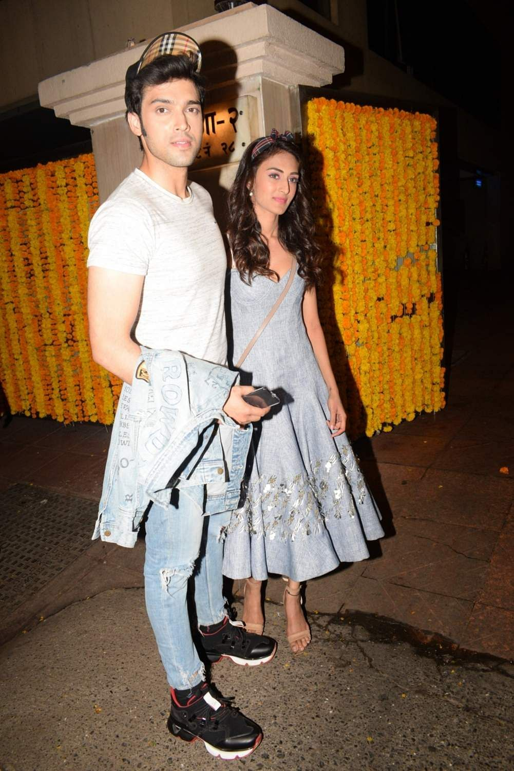 Actors Parth Samthaan and Erica Fernandes at the birthday party of producer Ekta Kapoor, in Mumbai on June 8, 2019. (Photo: IANS)