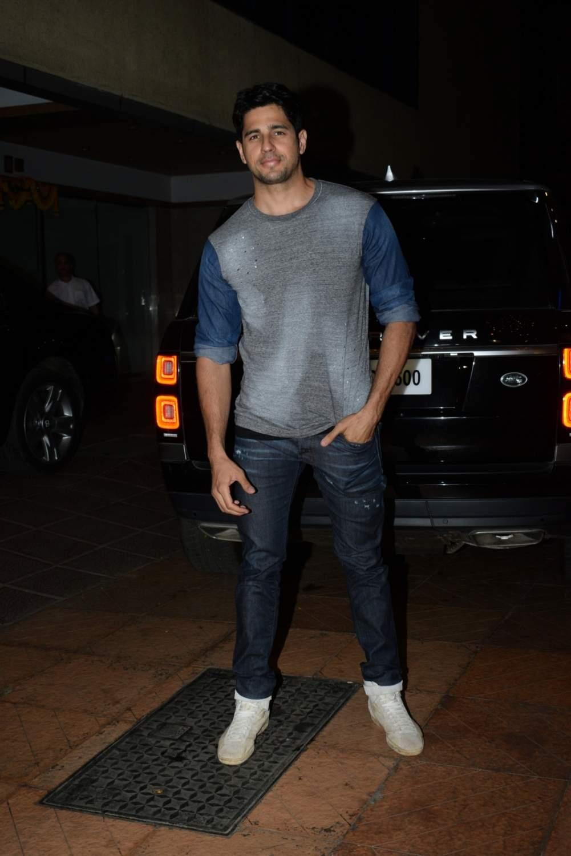Actor Sidharth Malhotra at the birthday party of producer Ekta Kapoor, in Mumbai on June 8, 2019. (Photo: IANS)