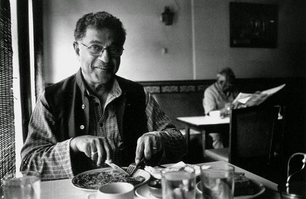 Girish Karnad: The uncommon man; the life of a literary pioneer and legend in pictures. Photo by the late Raghav Shreyas at Koshy's Bangalore.