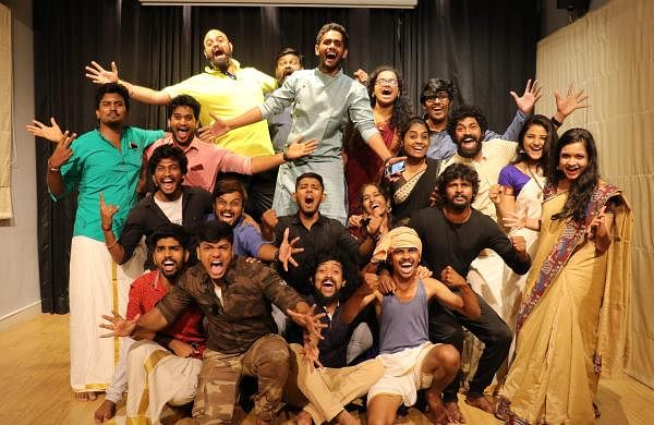 The cast of Urubhangam