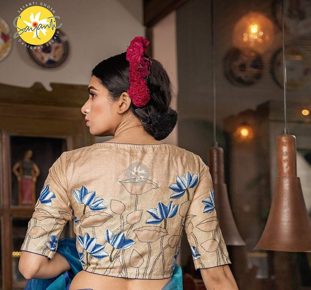 Kolkata Fashion Sayanti Ghosh S Inspired Blouses Play Up The Narratives Of The Six Yard