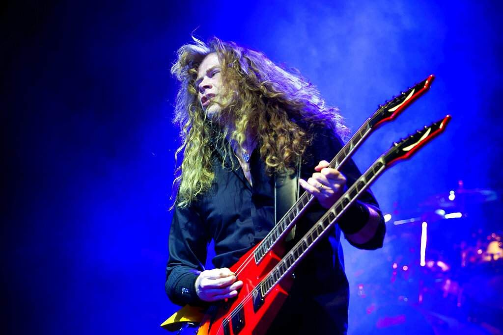 2011 file photo: Singer & guitarist Dave Mustaine of Megadeth (AP Photo/MTI, Balazs Mohai)