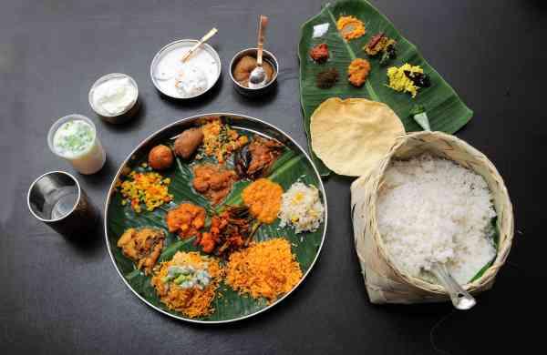 The Andhra Thali meal at Subbayyagari Hotel