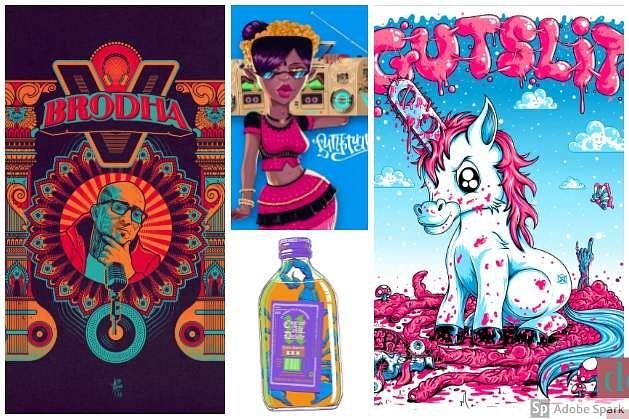 illustrators and graphic artists from around the country who help bring indie music into the picture, literally