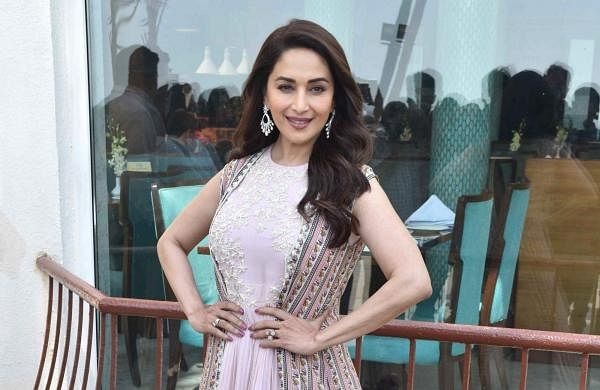 Mumbai: Madhuri Dixit Nene on the dance floor on the sets for the eagerly awaited film, Kalank. (Photo: IANS)