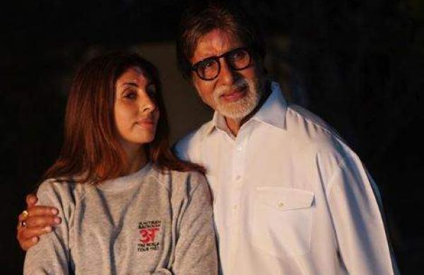 Amitabh Bachchan with daughter Shweta Bachchan