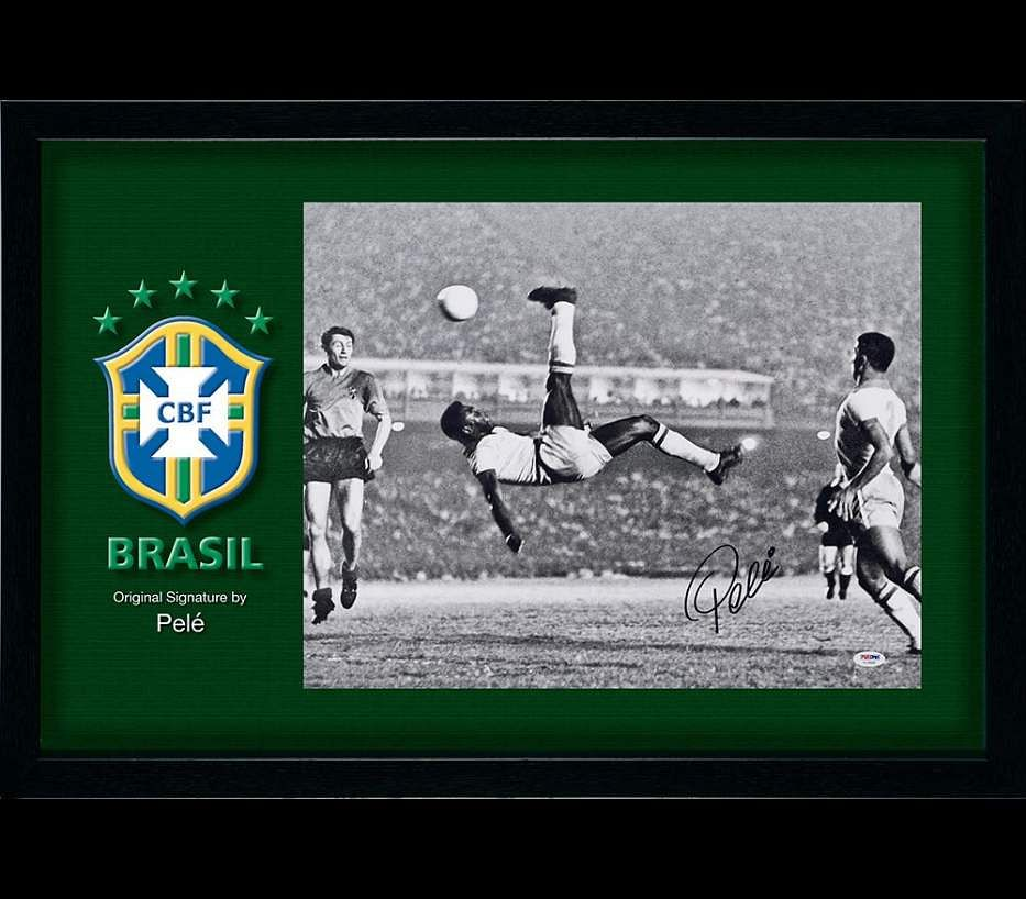Pele signed poster