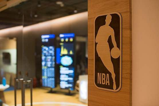 Slam dunk with NBA India! Here's an insider view of their new workspace at Bandra Kurla Complex, Mumbai. NBA Office entrance.