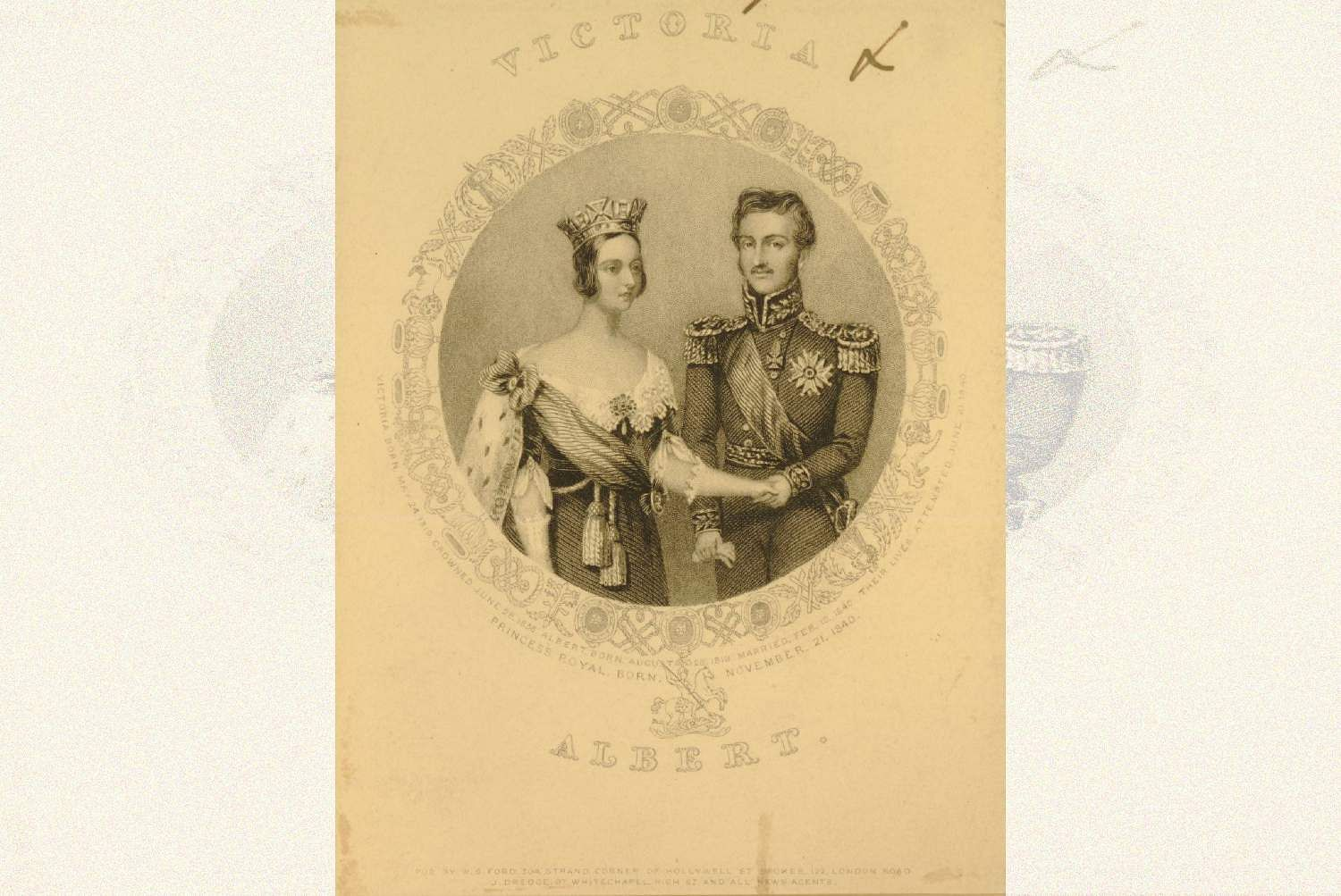Portrait of Queen Victoria and Prince Albert (Photo Source: The Trustees of the British Museum)