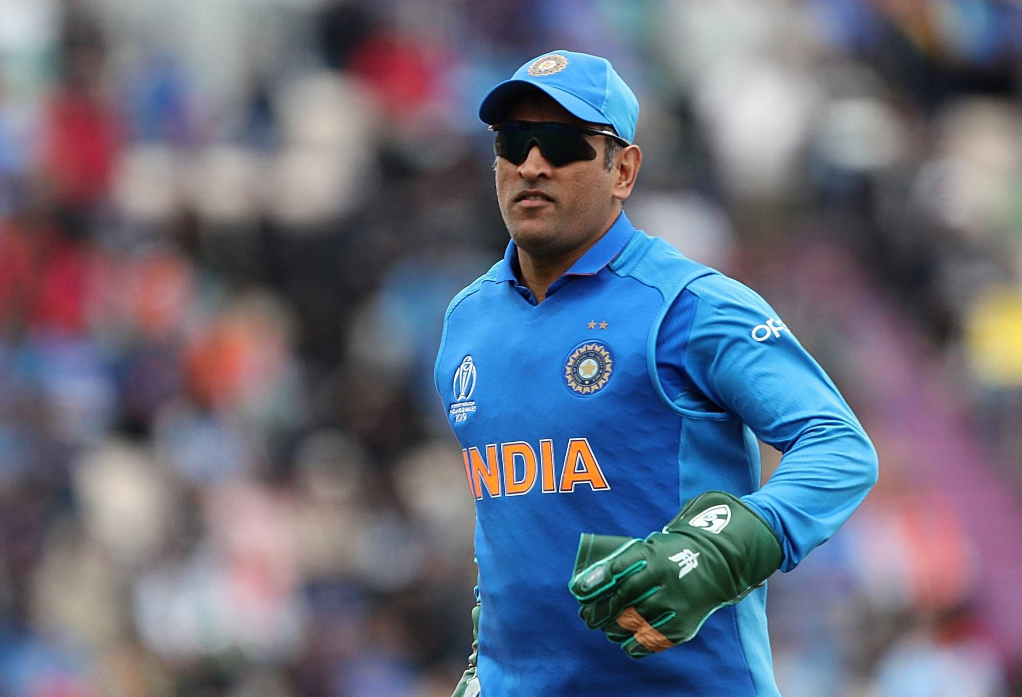 Dhoni at the match